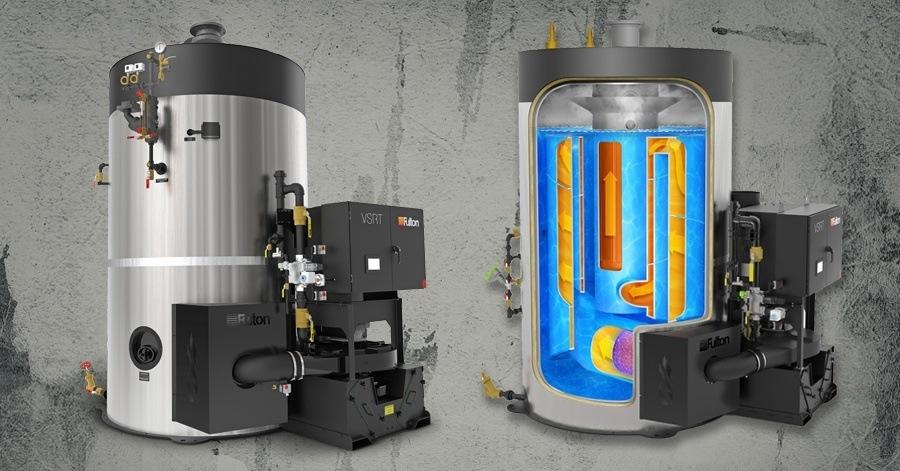 Fulton VSRT 250 - 250 HP Vertical Spiral Rib Tubeless Steam Boiler